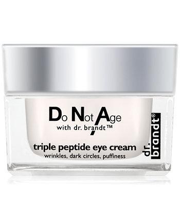 крем для кожи вокруг глаз с тройным пептидом, не стареть, 0,5 унции Dr. Brandt