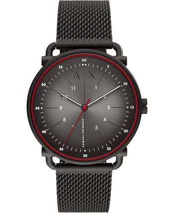 Мужские часы из нержавеющей стали с сеткой в стиле рококко, 44 мм Armani Exchange