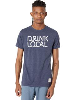 Винтажная футболка из трех смесей Drink Local The Original Retro Brand