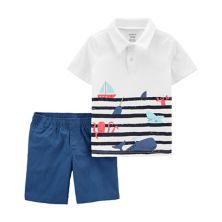 Toddler Boy Carter's Nautical Polo & Shorts Set Carter's