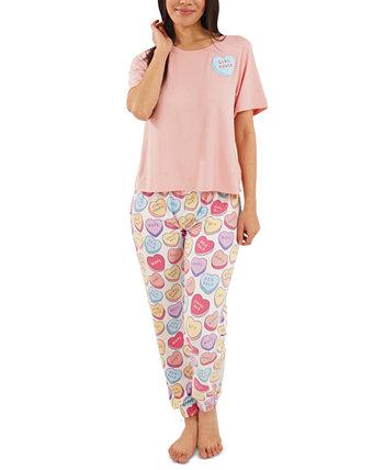Пижамный комплект Candy Hearts Jogger Pants Munki Munki