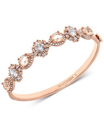 Браслет-браслет с кристаллами и камнями розового золота Marchesa