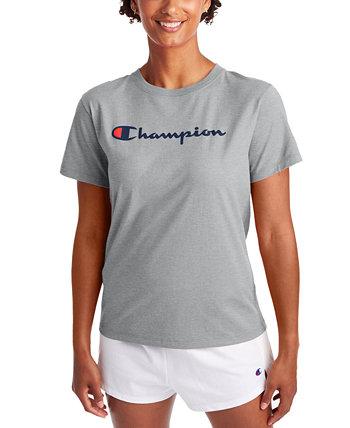 Женская классическая футболка с логотипом Champion