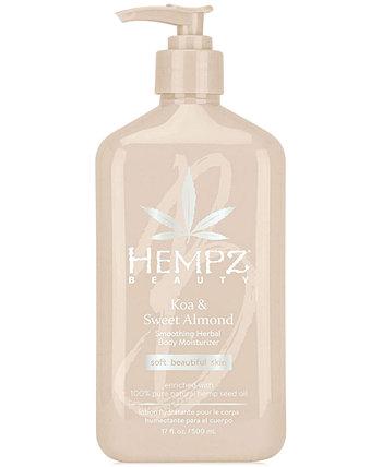 Травяной увлажняющий крем для тела с коа и сладким миндалем, 17 унций, от PUREBEAUTY Salon & Spa Hempz