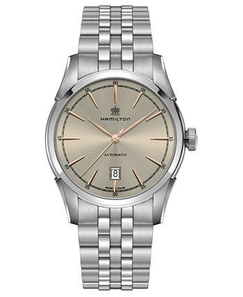 Мужские швейцарские автоматические часы Spirit Of Liberty из нержавеющей стали с браслетом 42 мм Hamilton