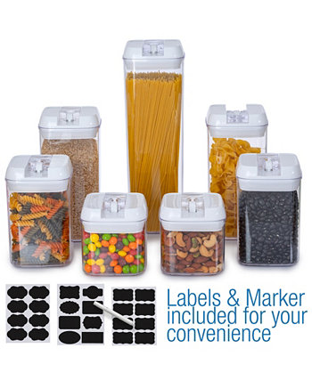 Food Storage Container, Set of 7 Cheer Collection