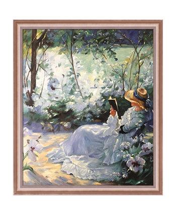 """Автор overstockArt Delicious Solitude с классическими настенными рисунками в рамке в оттенках розового золота, 23 """"x 27"""" La Pastiche"""