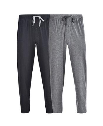 Hanes Мужские вязаные пижамные штаны, 2 шт. Hanes Platinum
