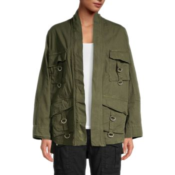 Куртка в стиле милитари на пуговицах The Kooples
