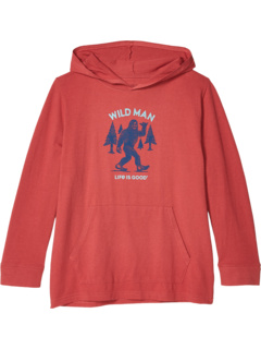Дикая футболка с капюшоном Wild Man (Маленькие дети / Большие дети) Life is Good Kids