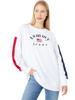 Длинный пуловер с логотипом Tommy Jeans