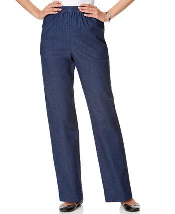 Джинсовые брюки без застежки Classics в миниатюрных и миниатюрных шортах Alfred Dunner