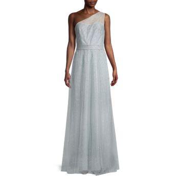 One-Shoulder Gown Marchesa