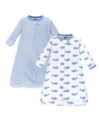 Носимый спальный мешок / одеяло Baby Boy с длинным рукавом, 2 шт. Hudson Baby