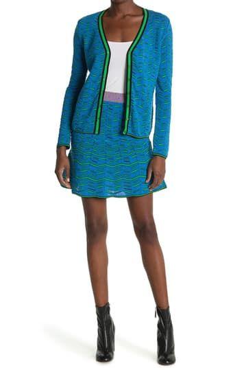 Расклешенная вязаная юбка с рисунком M Missoni
