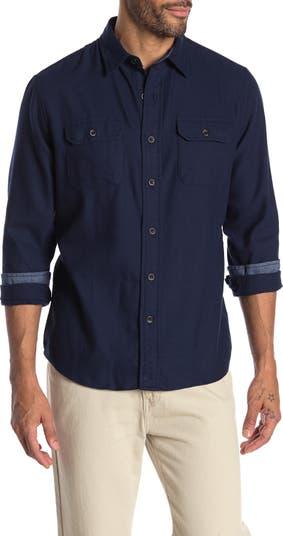 Рубашка классического кроя из стрейч-верескового флиса Performance Tailor Vintage