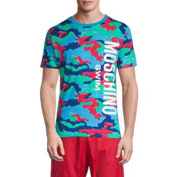 Cotton-Blend Swim Shirt Moschino