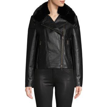 Куртка из искусственной кожи с отделкой искусственным мехом Bailey 44