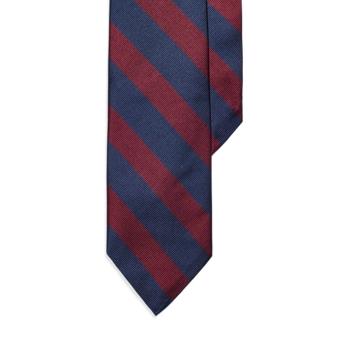 Узкий клубный галстук в полоску, размер Ralph Lauren