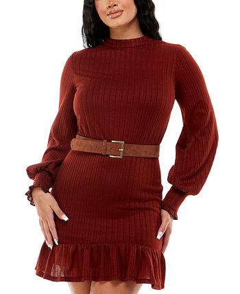Юниорское платье трапециевидной формы с оборками B Darlin
