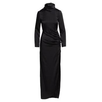 Макси-платье с открытой спиной и сборками REDValentino
