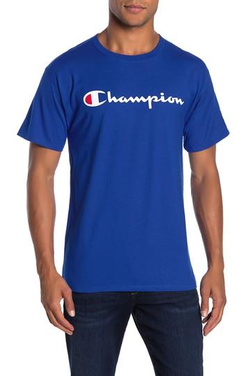 Классическая футболка с короткими рукавами и принтом логотипа Champion