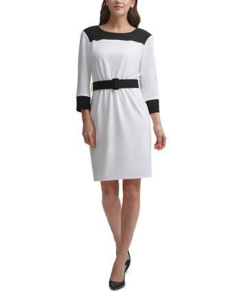 Платье-футляр с цветными блоками Calvin Klein