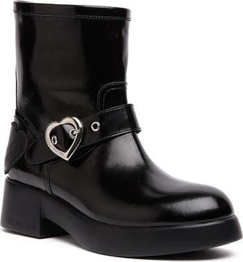 Patent Platform Boot LOVE Moschino
