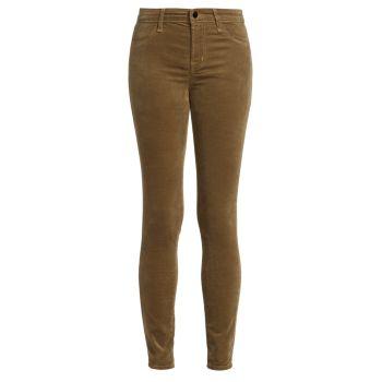 815 Mid-Rise Velvet Super Skinny Pants J Brand