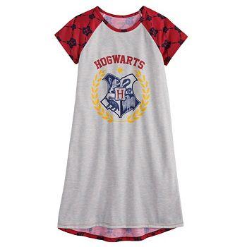 Girls 4-12 Harry Potter Hogwarts Dorm Gown Licensed Character