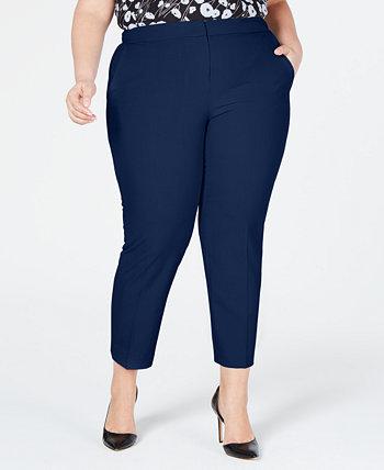 Модные классические брюки до щиколотки с тонкими штанинами больших размеров, созданные для Macy's Bar III