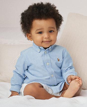 Однотонная оксфордская рубашка для мальчиков от Ralph Lauren Ralph Lauren