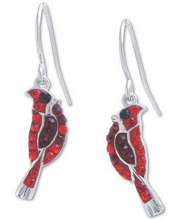 Хрустальные серьги-подвески Cardinal из стерлингового серебра, созданные для Macy's Giani Bernini