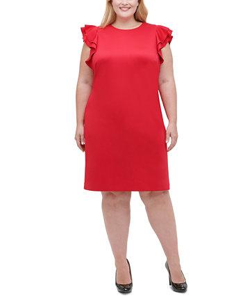 Платье больших размеров с развевающимися рукавами Tommy Hilfiger