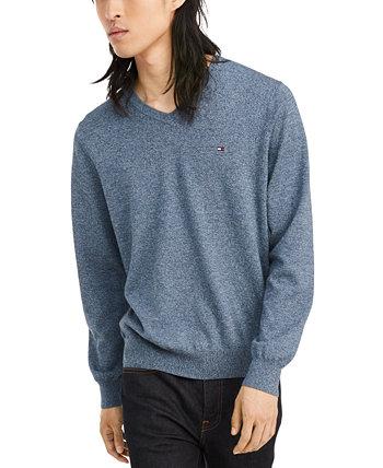 Фирменный мужской свитер с V-образным вырезом Tommy Hilfiger