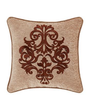 Квадратная декоративная подушка J Queen Luciana, 18 дюймов J Queen New York