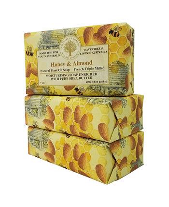 Мыло с медом и миндалем по 3 штуки в упаковке по 7 унций Wavertree & London