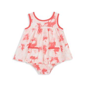 Baby Girl's Tie-Dye Skirted Sunsuit Calvin Klein