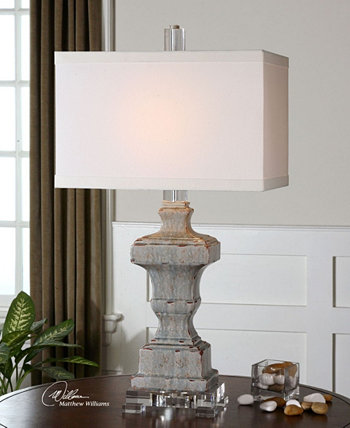 Лампа из голубой глазури San Marcello Uttermost
