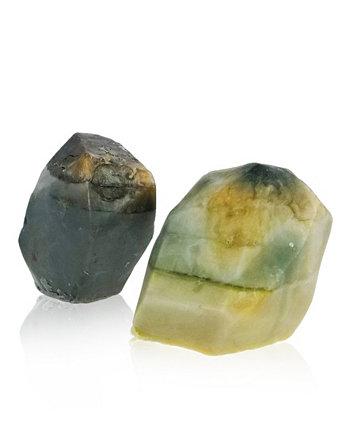 Glow Gems Набор из 2 мыл ручной работы из натуральных драгоценных камней - западно-индийский сандал SWAY