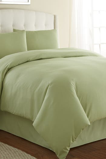 Комплекты пододеяльников из тонкого постельного белья Full / Queen Southshore Vilano Springs - зеленый шалфей SOUTHSHORE FINE LINENS