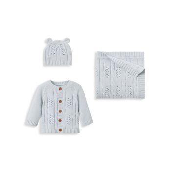 Подарочный набор для новорожденных из 3 предметов для маленьких мальчиков Elegant Baby