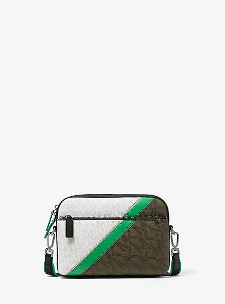 Cooper Color-Block Logo Stripe Crossbody Bag Michael Kors