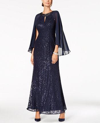 Платье-накидка с блестками SL Fashions