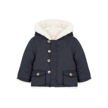 Детские & amp; Двустороннее пальто для маленьких мальчиков из искусственной шерпы Tartine et Chocolat