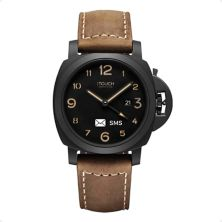 iTouch Connected Men's Leather Strap Watch ITouch