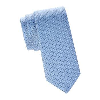 Шелковый галстук с ромбовидным узором BOSS Hugo Boss
