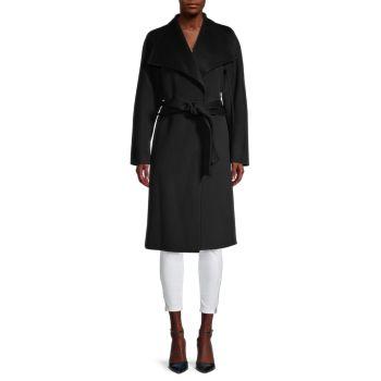 Шерсть и Пальто с завязкой спереди из смесовой кашемира Vince
