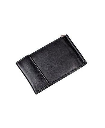 Мужской зажим для банкнот из натуральной кожи с застежкой-защелкой CHAMPS