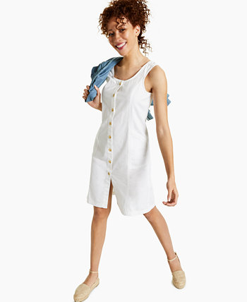 Petite Cotton Denim Dress, Created for Macy's Style & Co